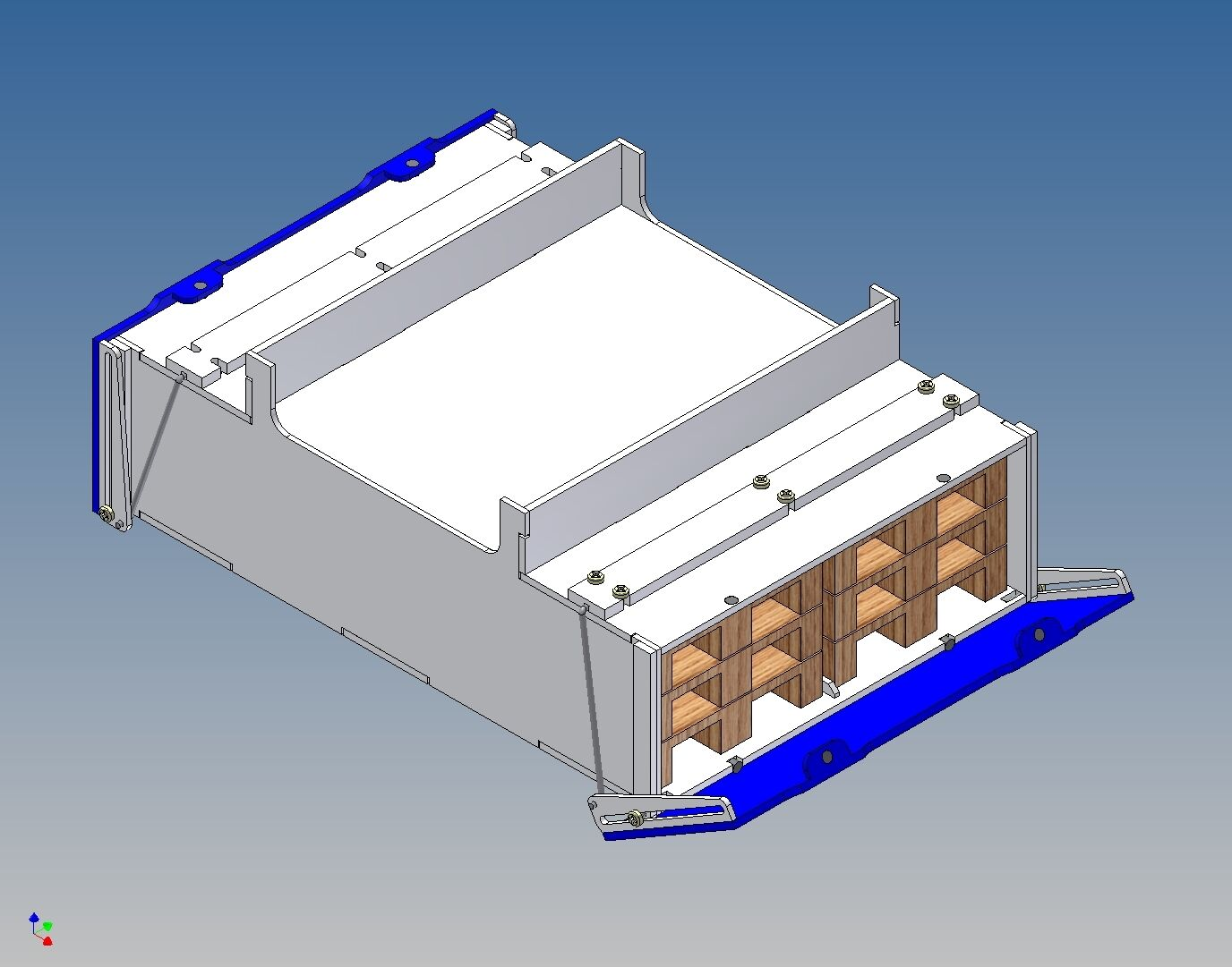PB130V Palettenstaubox (voll) für Carson Trailer - 130 120 l x 46 h x 180 b
