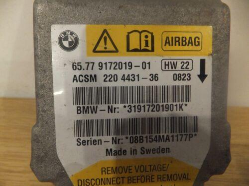 GENUINE BMW E61 5 SERIES AIRBAG SENSOR ECU CONTROL MODULE 9172019 #851//B50