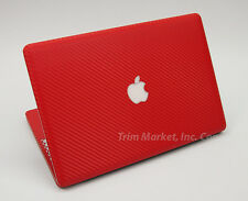 FOR MACBOOK PRO 15.4 A1286 RED CARBON FIBER FULL BODY WRAP PROTECTOR DECAL SKIN
