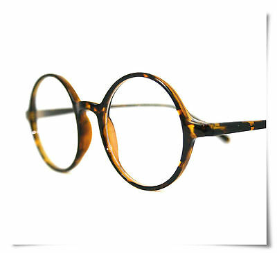 New Round Reading Glasses Tortoise  All Strength FREE Hard Case & Cleaner