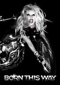 Details about LADY GAGA BORN THIS WAY BIKE A4 printed poster