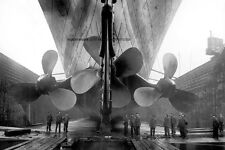 """White Star Line HMS Titanic Propellers Construction 11""""x 17"""" Photo Poster 9"""