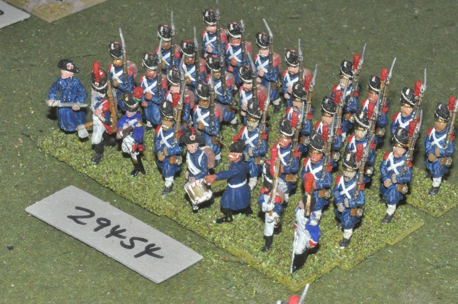 25mm napoleonic   french - grenadiers of guard 32 figures - inf (29454)