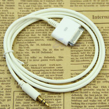Male Cable Adapter 30pin Stereo 3.5mm AUX Input FR iPod iPhone 4 Dock Connector