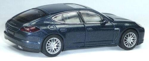 Modellauto Porsche Panamera S ca.12 cm dunkelblau metallic Neuware v WELLY