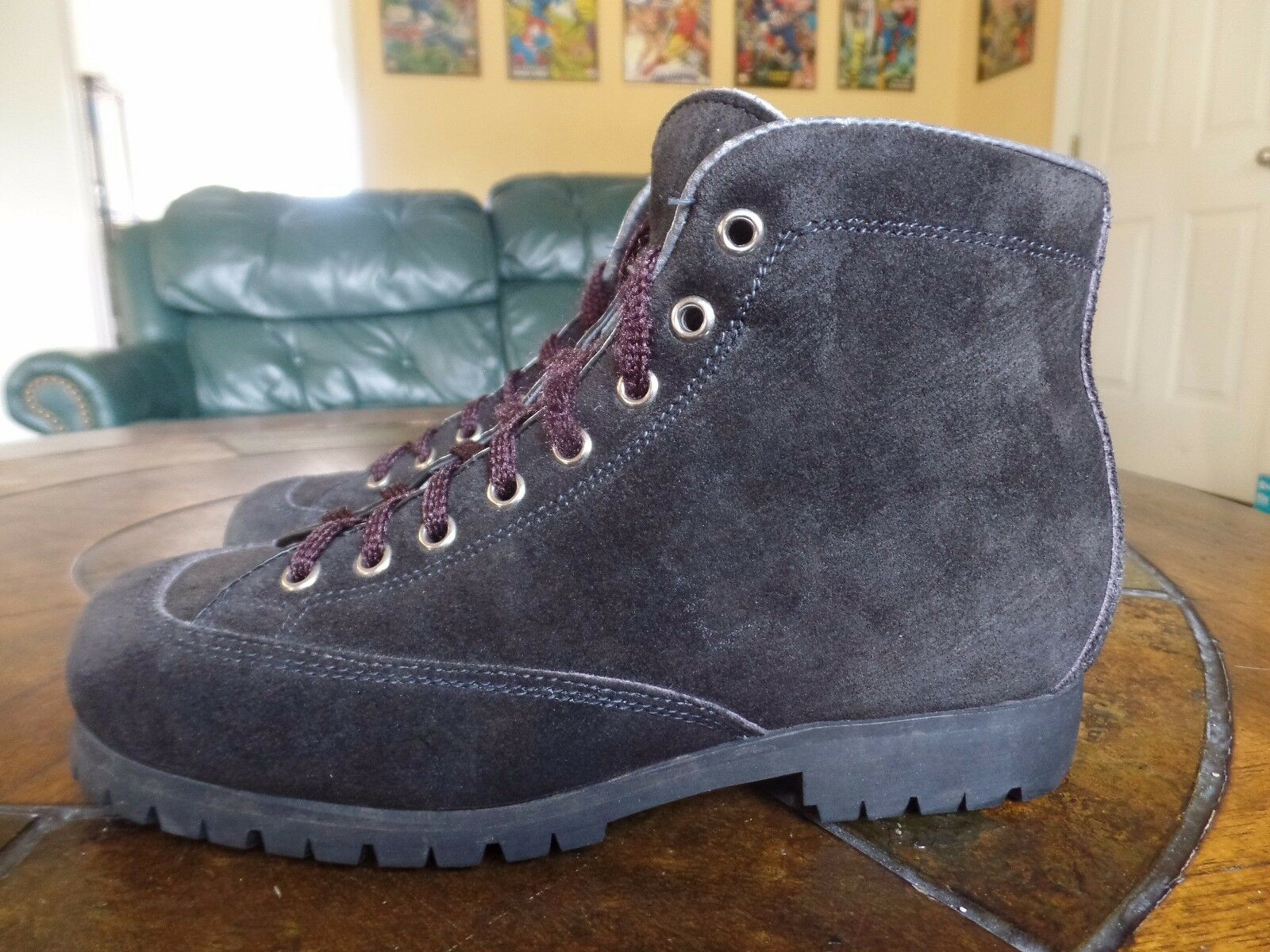 Vintage THE ALPS FABIANO  Suede Hiking Boots  womens 6.5