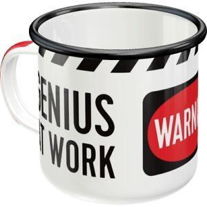 Genius-At-Work-Enamel-Cup-Enamel-Mug-Cup-3-1-8x3-1-8in-12-2oz