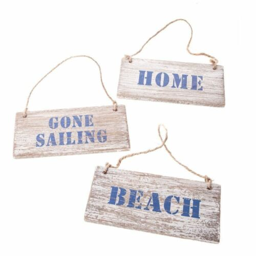GISELA GRAHAM NAUTICAL WOODEN HANGING PLAQUE SIGN HOME GIFT RECTANGLE DESIGN