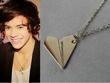One Direction 1D Harry styles Paper Airplane Silver pendant Fashion Necklace