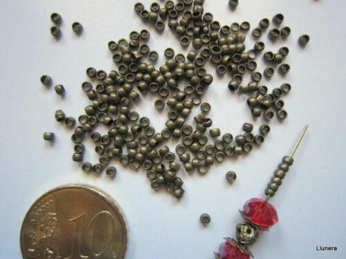 Perlas bola lisa 2 mm X 350 UNIDADES ó 4 gramos bronce abalorios fornituras