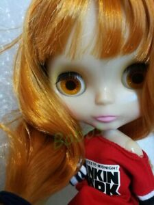 "12/"" Neo Blythe Doll Black Short Hair With Bang from Factory Nude Doll"