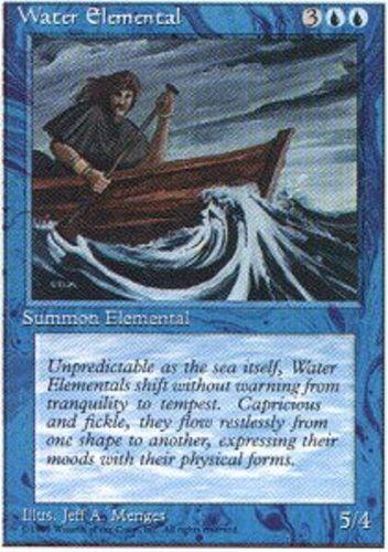 4x Water Elemental MTG 4th Edition NM Magic Regular