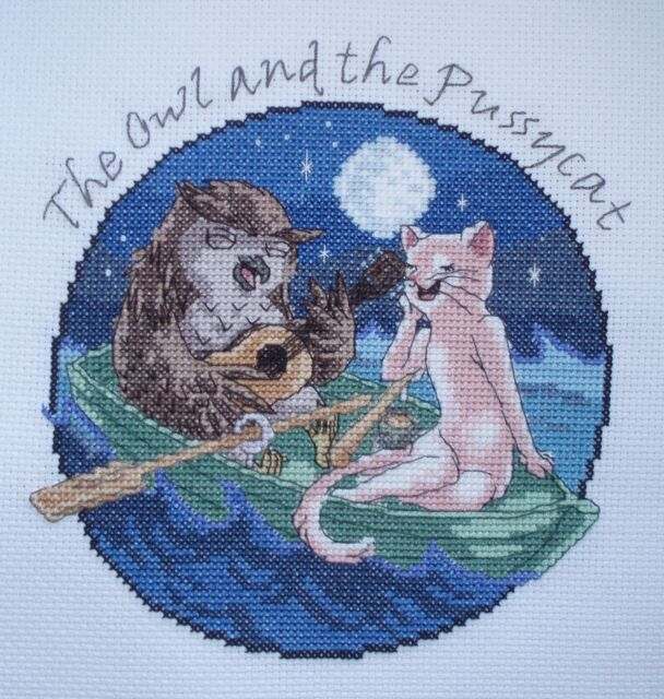 KL145 The Owl and the Pussycat Cross Stitch Kit by Vanessa Wells