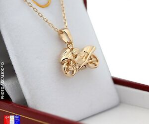 Pack-Pendant-Motorcycle-and-Chain-for-Real-Gold-Plated-with-Box-for-Men-Woman