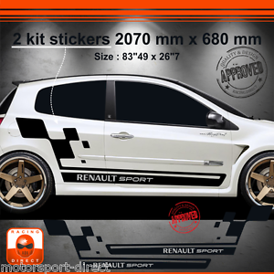 sticker renault clio rs 3 iii tuning sport aufkleber. Black Bedroom Furniture Sets. Home Design Ideas