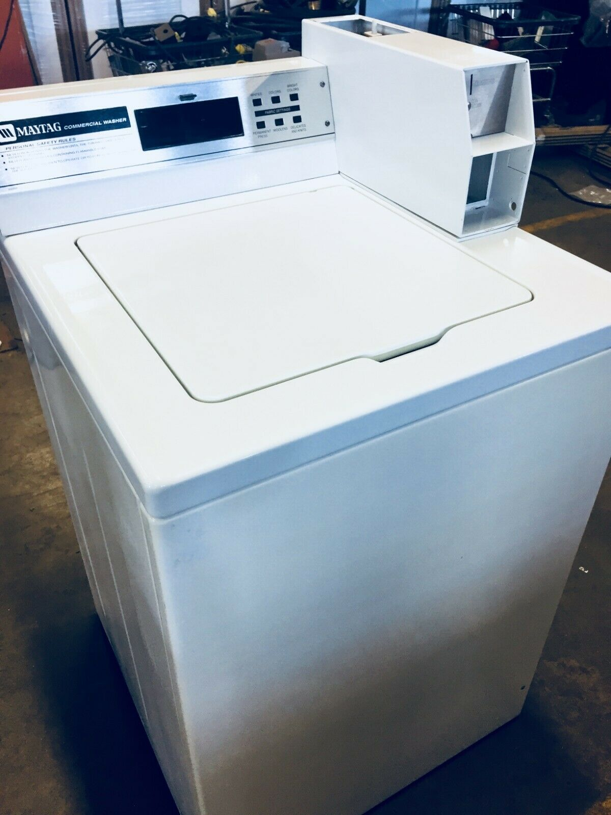 MAYTAG GENUINE OEM WHITE COMMERCIAL COIN OPERATED WASHER LID #214000 #2-14000