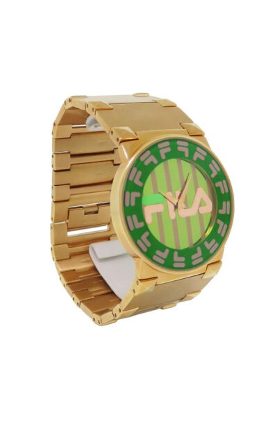 Fila 848912 Barocco Women's Round Analog Kelly Green Rose Gold Tone Watch