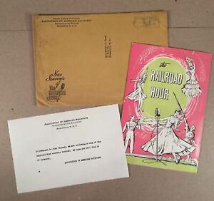 1951-NBC-RADIO-SHOW-THE-RAILROAD-HOUR-Souvenir-Book-with-Original-Envelope