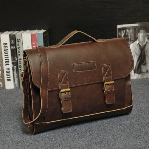 Men Leather Handbag Messenger Laptop Shoulder Work Bag Satchel Briefcase Tote