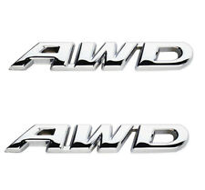 Black AWD Logo Metal Emblem Sticker Badge Decal for 4 Wheel Drive SUV Off Road Tailgate Honda new CRV Crosstour VEZEL XRV
