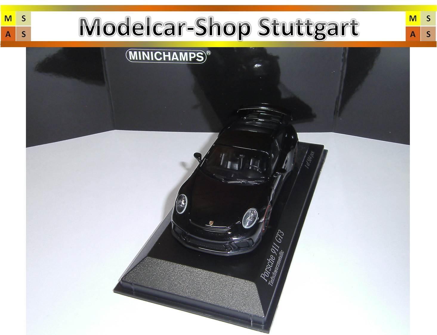 PORSCHE 911 gt3 2016 nero profondo Metallic Minichamps 1 43 Limited Edition 504 NUOVO