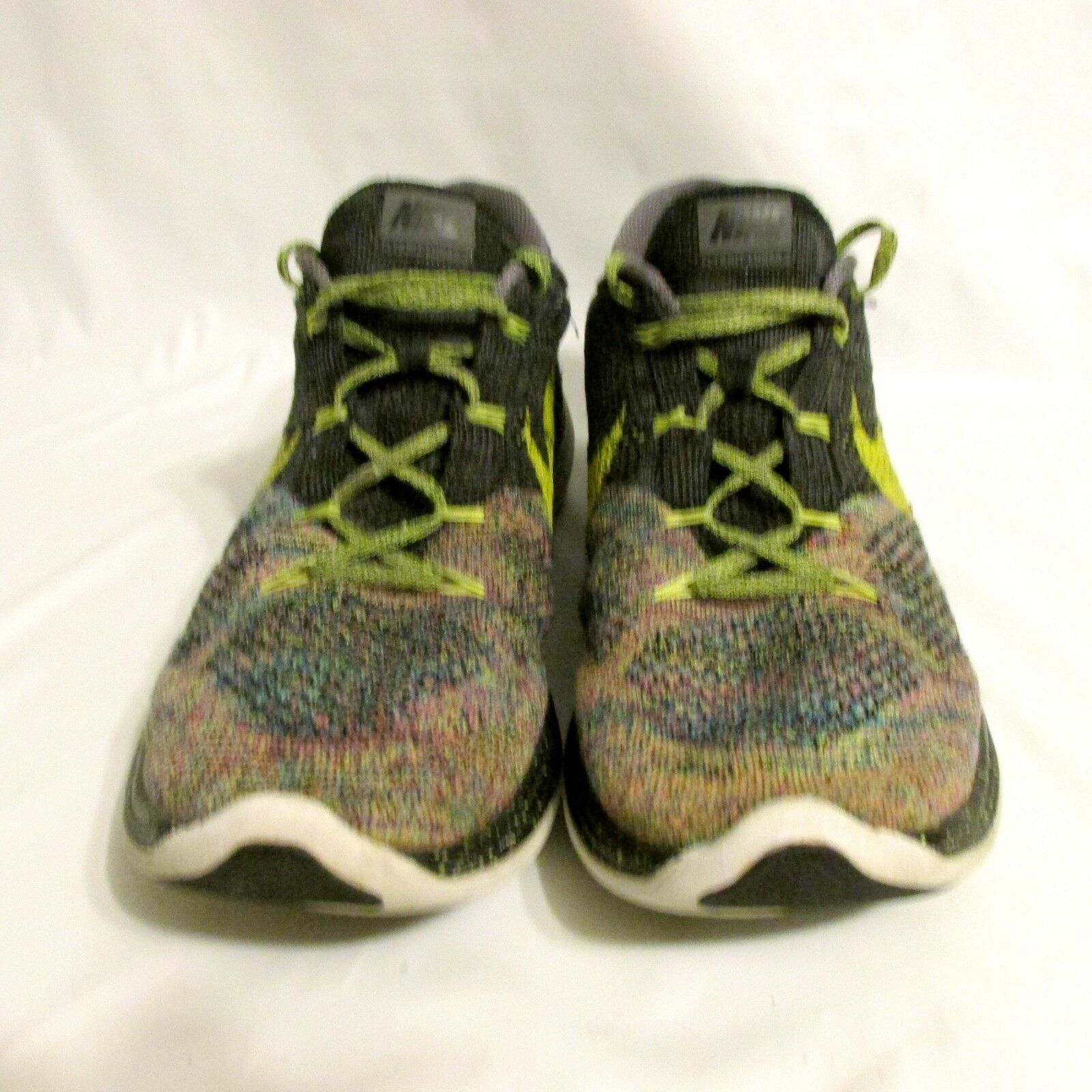 NIKE MENS FLYKNIT LUNAR 3 MULTI-COLOR RUNNING SHOES 718675 046 12.5