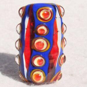 CLOWN-PANTS-Handmade-Art-Glass-Focal-Bead-Flaming-Fools-Lampwork-Art-Glass-SRA