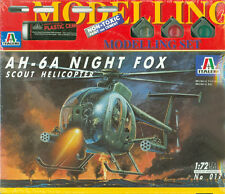 AH-6A Night Fox Scout Helicopter 1:72 Italeri Set 017 inkl. Farbe Kleber Pinsel