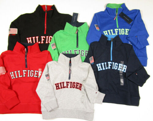my Hilfiger Boys Long Sleeve Quarter Zip Pullover