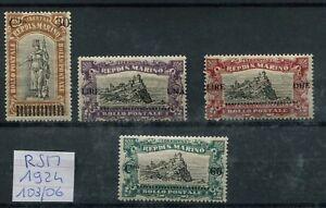 San-Marino-1924-103-06-francobolli-del-1918-n-59-62-pro-combattenti-mnh