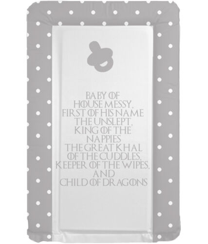 GOT Theme Boys Changing Mat Baby Boys Changing Mat First Of His Name Grey