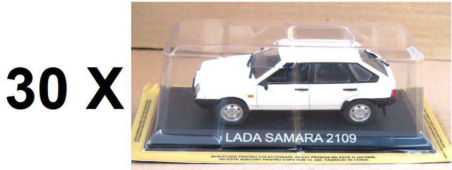 Lote de 30 coches 1 43 Lada Samara 2109 Diecast Modelo Coche legendario URSS IXO BA10