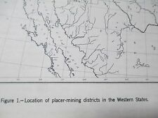 Gold Mine Location Maps Placer Mining Prospector and Treasure Hunters Guide