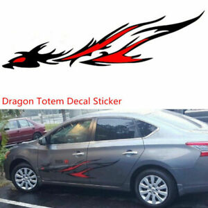 2-X-Car-SUV-Body-Side-Flame-Dragon-Totem-Personalized-Vinyl-Film-Decal-Sticker-amp