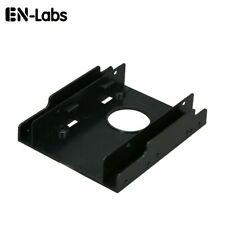 "2 PCS 2.5"" SSD hdd To 3.5/"" Mounting Adapter Bracket  Holder ATX  sata cable A172"