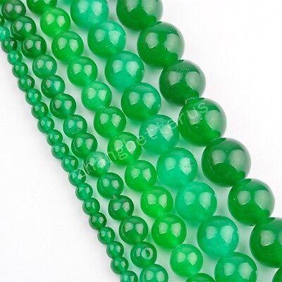 Malay Jade Gemstone Round Bead Loose Spacer Beads 16'' Strand 4 6 8 10 12 mm
