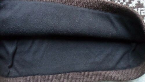 Damen Rock Norweger Minirock Winterrock kurz Strickrock warm Wolle Braun Gr.XL