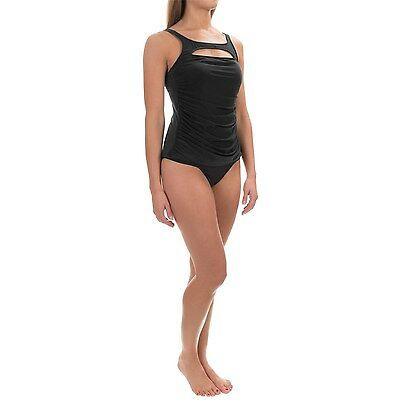 MAGICSUIT MIRACLESUIT TANKINI SWIMSUIT 12 42 Top Only Clean Lines Adele Black