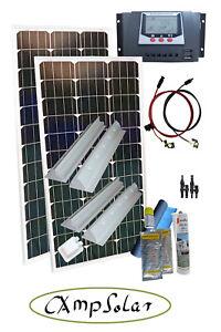 solarmodul solaranlage wohnmobil 200 watt mit 30 ampere laderegler ebay