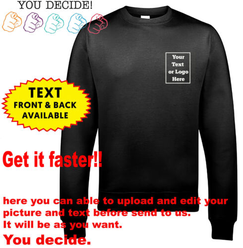 Custom Printed Text Your Image Personalised Stag Workwear Breast Sweater Jumper