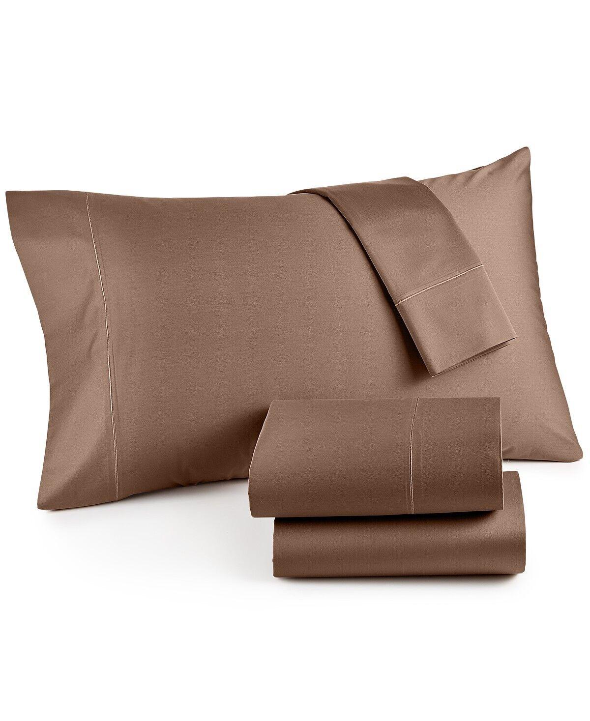 Hotel Collection 525 TC Cotton QUEEN EXTRA DEEP Sheet Set Truffle Bedding G625