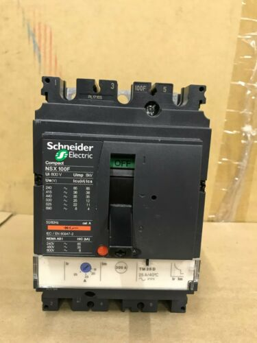 TM25D 3P 25A Circuit breaker LV429636 NSX100F Schneider Compact NSX 100F NEW
