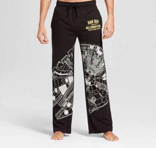 Star Wars Han Solo Millennium Falcon Black Pajama Lounge Pants Size S M