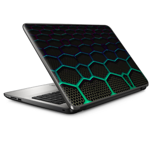 Laptop-Skin-Wrap-Universal-for-13-inch-Metal-Grid-Futuristic-Panel