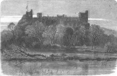 antique print seat of Duke of Norfolk Arundel Castle SUSSEX 1858