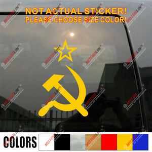 USSR State Flag Russian Soviet Union Hammer and Sickle Decal Sticker Car Vinyl