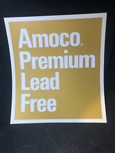 AMOCO GAS PUMP SIGN VINTAGE PREMIUM LEAD FREE AUTHENTIC NOS PLASTIC PUMP SKIRT