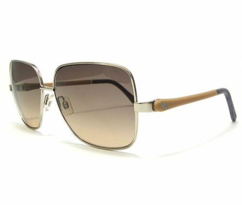 HOGAN HO0069 16B 59-14-135 Silver /& Brown Square Unisex Sunglasses w// Black Lens