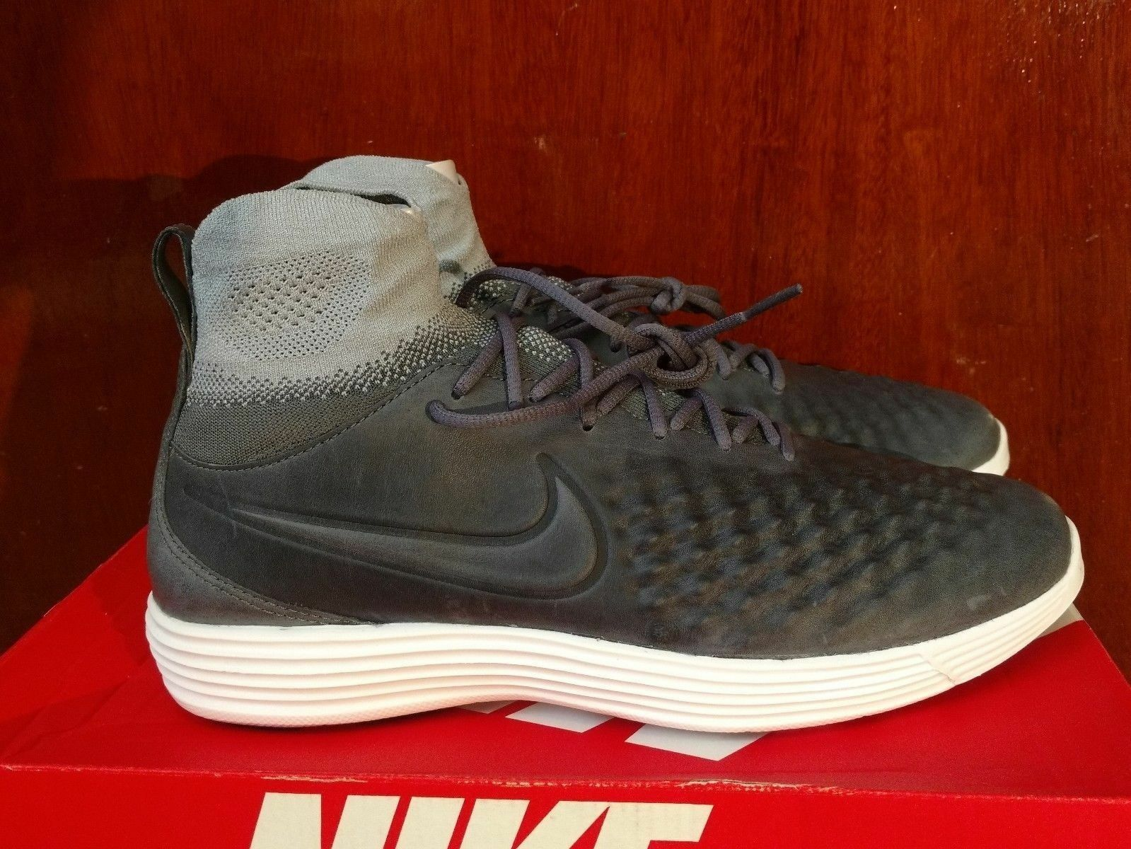 NIKE LUNAR MAGISTA II FK CROSS TRAINERS DARK GREY DARK GREY WOLF GREY 852614 002