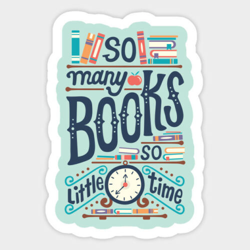 So Many Books So Little Time Quote Phrase Vinyl Wall Decal Room Decor Sticker